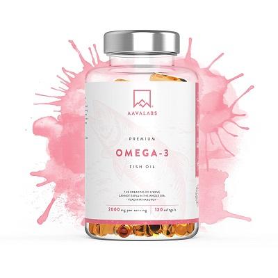 Suplemento de aceite de pescado Aava Labs Omega 3